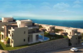 Twin house overlooking the sea